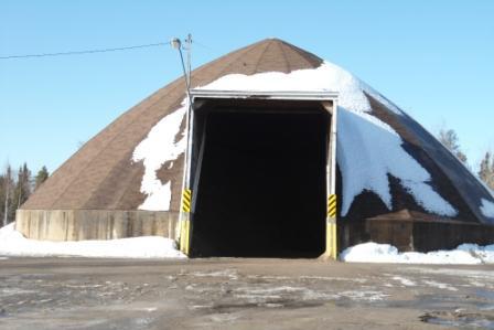 gravel hut