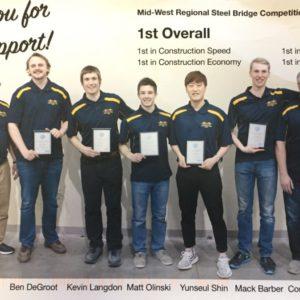 2018 Lakehead University Steel Bridge Team places 1st at Regionals!