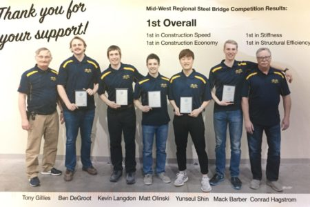 2018 Lakehead University Steel Bridge Team places 1st at Regionals!