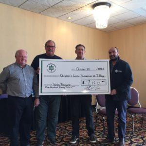 Annual TBTE Golf Tournament Raises $7,120 for Children's Centre Foundation of TBay