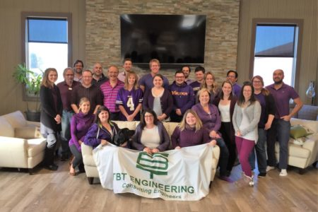 TBT Engineering Staff Go Purple In Support Of Child Abuse Prevention!