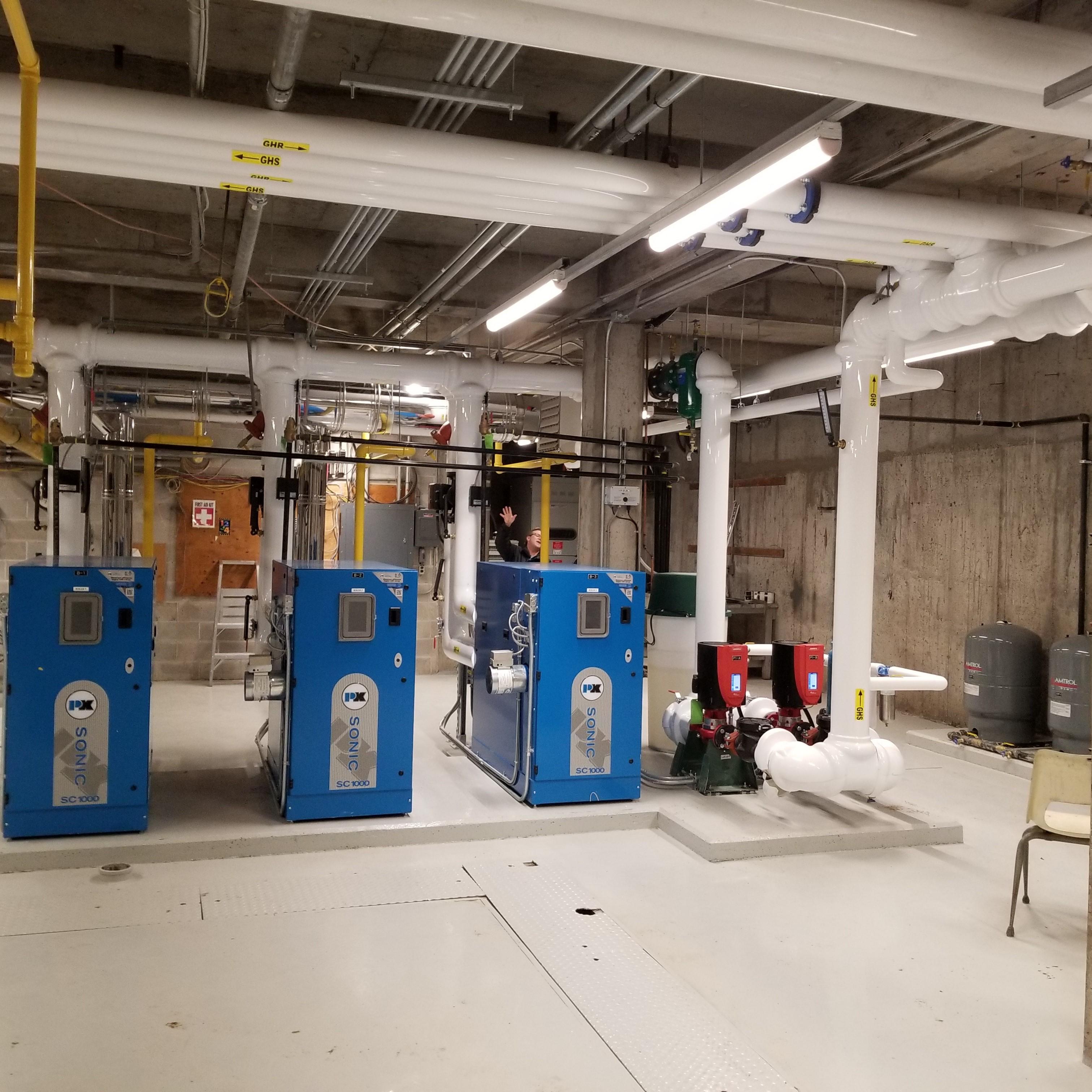 very impressive large mechanical room