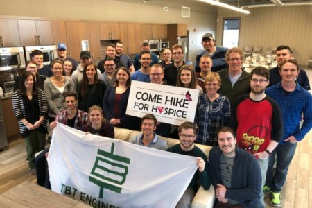 TBT Engineering Sponsors 8th Annual Hike for Hospice Campaign