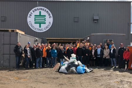 TBT Engineering and PDR participate in annual Spring Up to Clean-Up campaign!